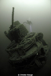 The wreck of the Mosel, photographed at 47 meters depth u... by Christian Skauge 